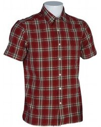 Yarn Dyed Checks Maroon Shirts
