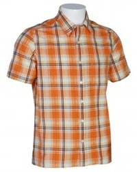 Yarn Dyed Checks Orange Shirts