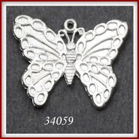 Butterfly Shape Metal Pendants