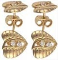 Cast Gold Earrings