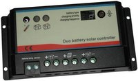 Dual Battery Solar Controller With Remote Meter
