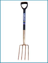 Stainless Steel Digging Fork With Plastic Shaft