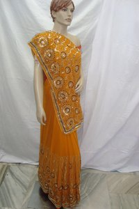 Trendy Sequence Work Saree