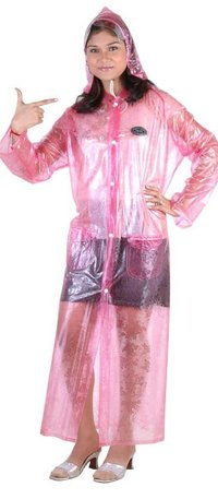 Special Cut Glass Ladies Raincoat