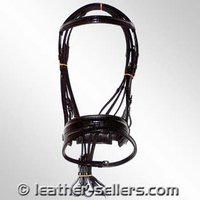 Web Reins Bone Fire Flash Snaffle Bridle