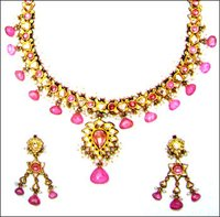 Gold Enameled Traditional Necklace