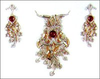 Romantic Ruby And Diamond Earrings