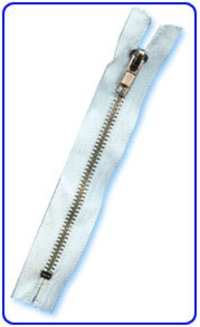 Silver Metal Zippers