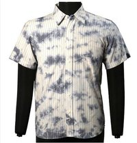 Mens Cotton Woven Yarn Dyed Stripe Shirts