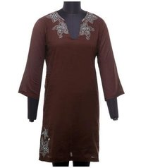 Cotton Voile Full Sleeve Kaftan