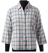 Cotton Woven Yarn Dyed Checks Blouse