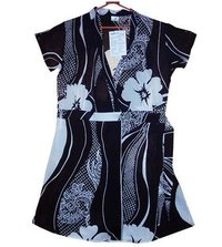 Voile Wave Print Fabric Ladies Tops