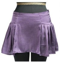 Poly Satin Mini Skirt With Pleats