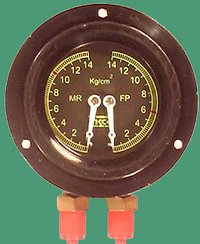 Duplex Pressure Gauge Led Type Non Led Type