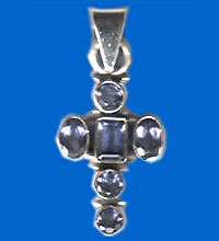 Cross Shape Silver Pendants