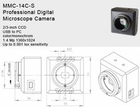 1.4 MP Digital High Sensitive CCD Camera