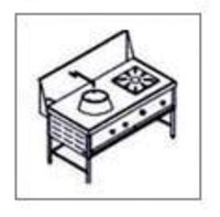 Chinese With Indian Burner Cooking Range