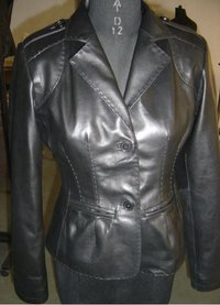 Black Ladies Leather Jackets
