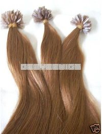 100% Human Hair ( Virgin Remy Hair ) Nail Tip/U-Tip Hair Extension