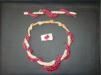 Ruby And Diamond Snake Necklace