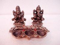 Metal Lakshmi & Ganesh Ji Statue