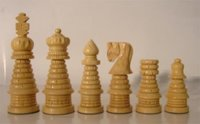 Burnt Carved Chess Pieces