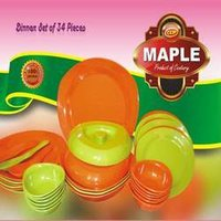 Melamine Unbreakable Dinner Set (Mapple)