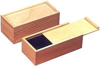 Pine Wood Slide Top Box Accessories
