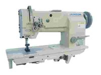 Double Needles Heavy Duty Flat-Bed Lockstitch Sewing Machine
