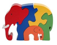 Wooden Jigsaw Puzzle Elephant