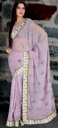 Muave Shaded Georgette Saree