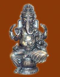 Metalic Ganesha Statue