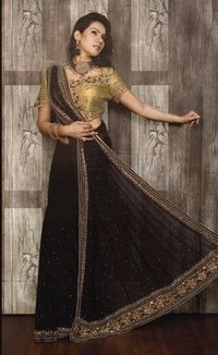 Black Georgette Sarees