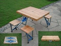 Folding Cum Picnic Table