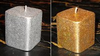 Small Rectangular Golden/Silver Candles