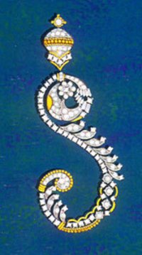 Designed Diamond Earings