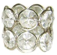 Crystal Napkin Rings With 14 Crystal