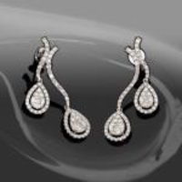 Diamond Studded Hanging Earrings