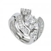 Engagement 2 Set Silver Rings