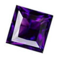 Square Shape Amethyst Stones