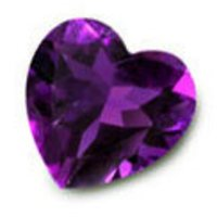 Heart Shape Amethyst Stones