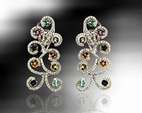Ethnic Diamond Studded Earrings
