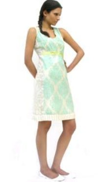 Nickel And Eggshell Silk Dress