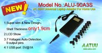 AC 90W Universal Laptop Adapter for Car use (ALU-90A3S)