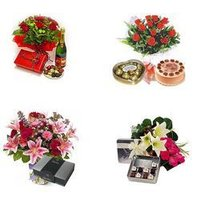 Flowers And Chocolates Gift Baskets