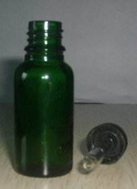 20 Ml Green Essential Oil Bottle With Dropper