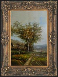 Framed Landscape Oil Paintings