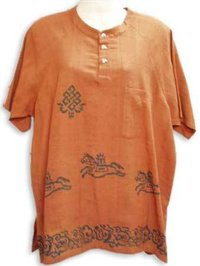 Ladies Khadi With Block Print Cotton Blouses