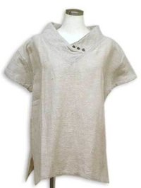 Ladies Linen Plain Dye Half Sleeve Cotton Blouse