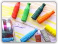 Soft Drink Crayons